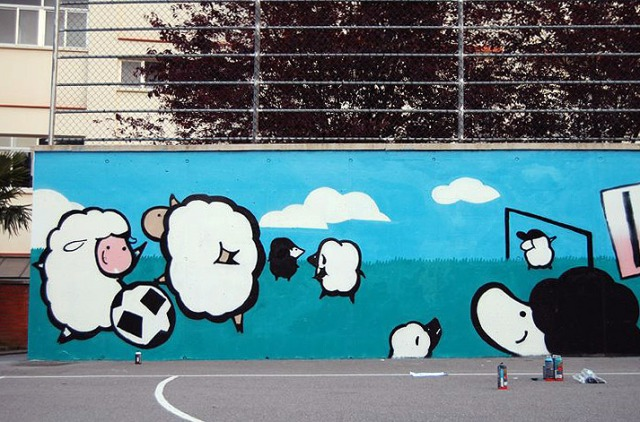 ovejas jugando